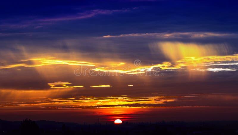 Download Sunrise stock photo. Image of city, cityscape, orange - 83710460