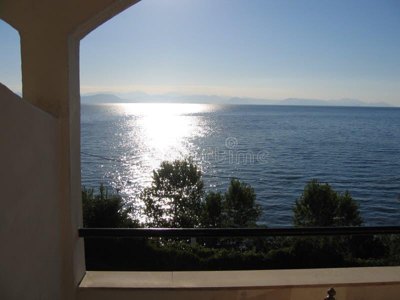 Sunrise in corfu royalty free stock images