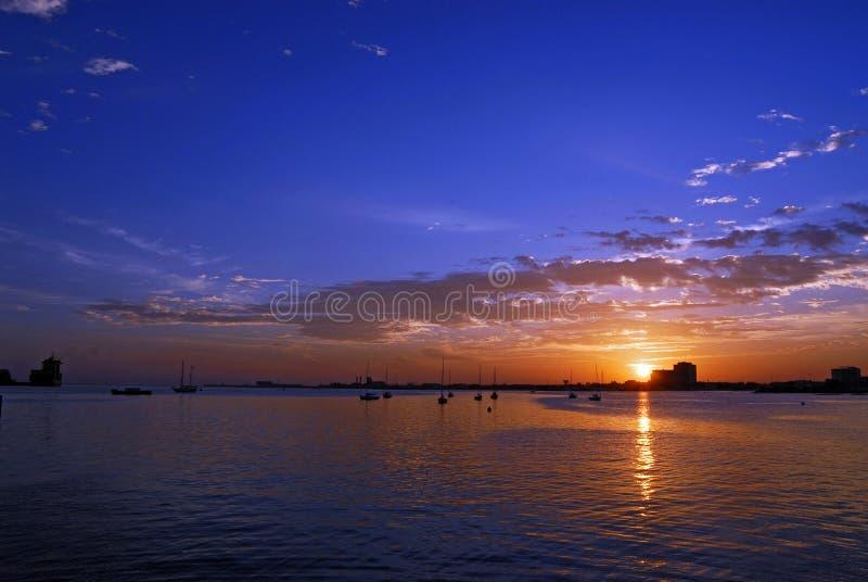 Sunrise in the corniche stock photo