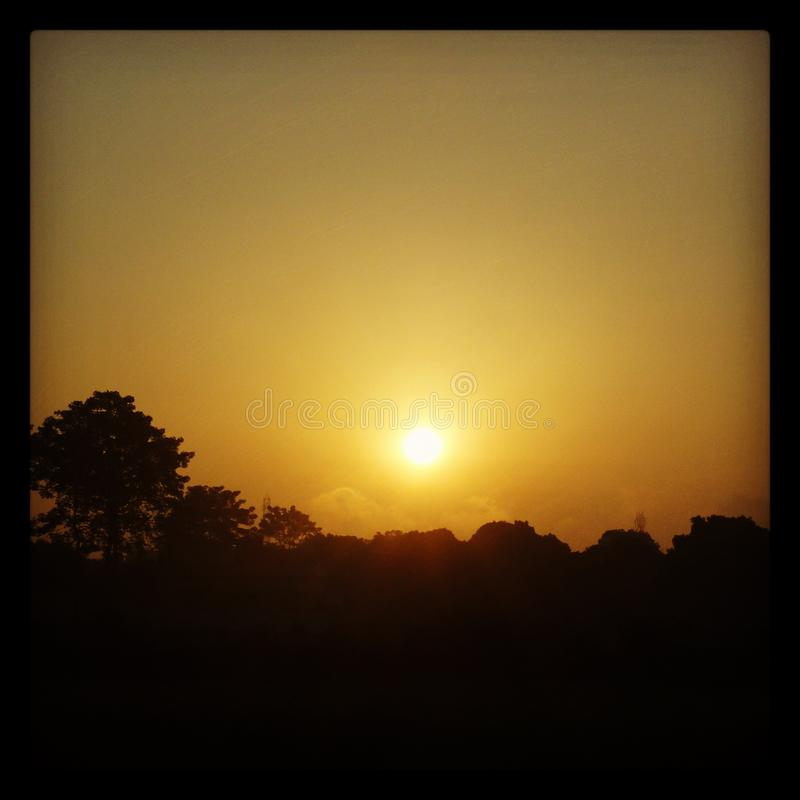 Sunrise in country side. royalty free stock photos