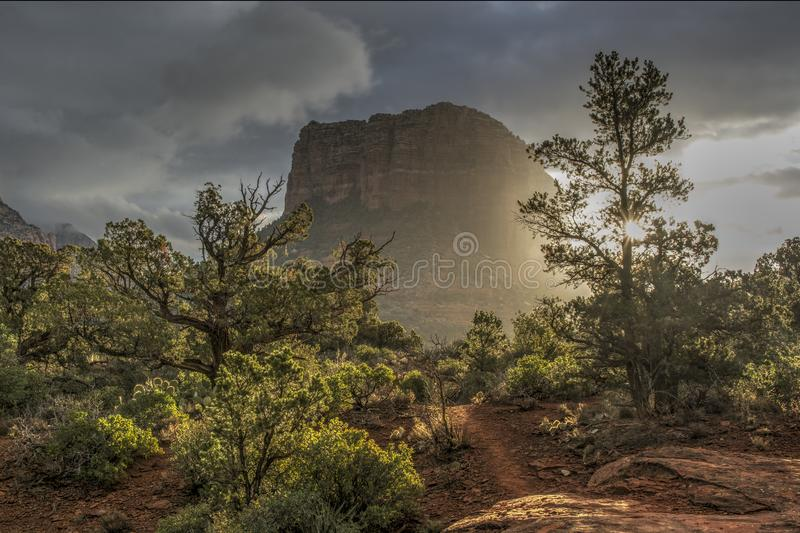 Sunrise in Courthouse Butte obrazy royalty free