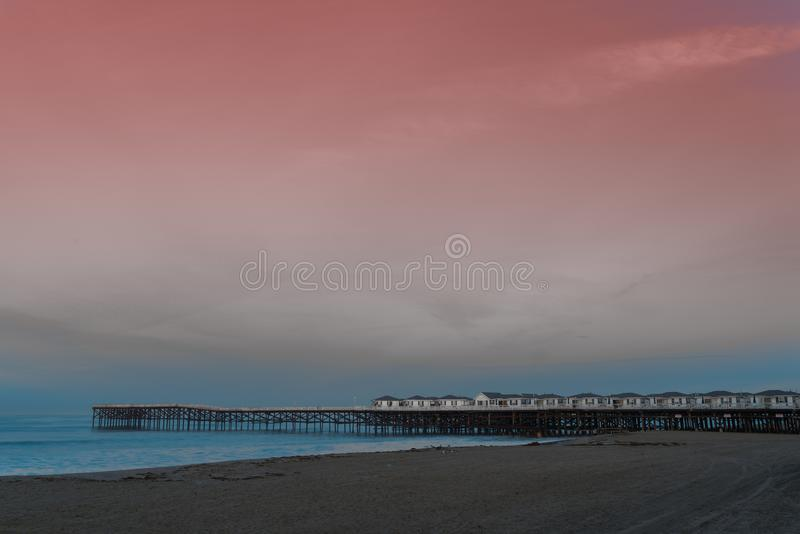 Sunrise at Crystal Pier stock photo
