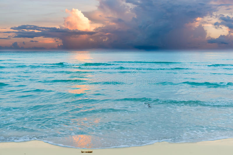 Download Sunrise In Cuban Beach Stock Photo Image Of Landscapes