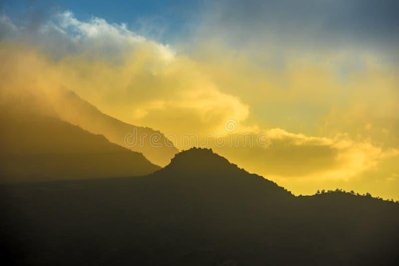 Sunrise dawn sunset dusk hillside terraced fields scenery of beautiful Sapa Vietnam Asia royalty free stock photo