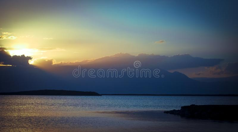 Sunrise on deadsea royalty free stock images