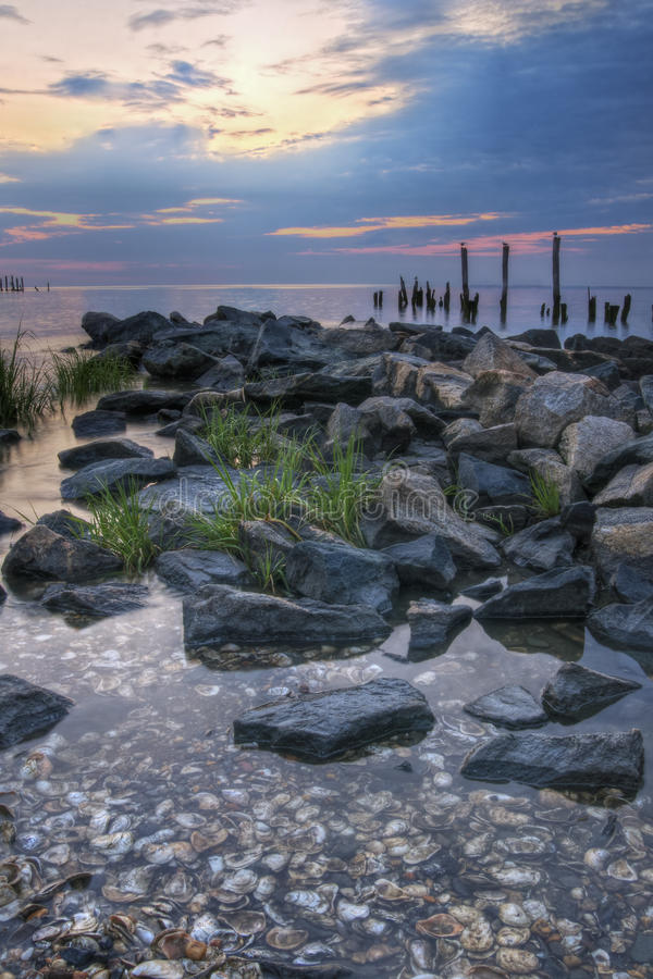 Download Sunrise on Delaware Bay stock photo. Image of nature - 22983706