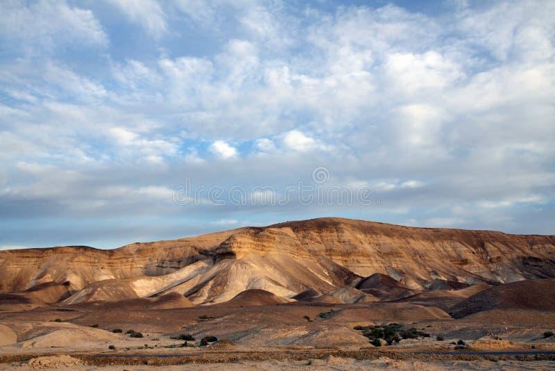 Sunrise in the desert stock photo