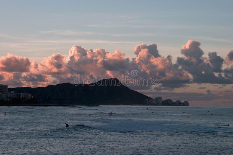 Download Sunrise at Diamond Head stock image. Image of ocean, diamond - 21307
