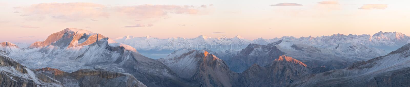 Sunrise in Dolomites stock photos