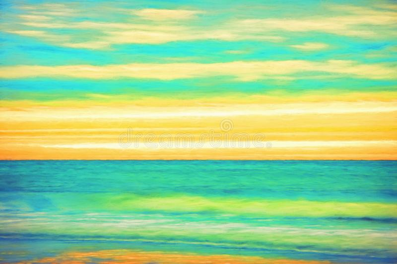 Abstract Textured Background of a Sunrise at the Beach stock images