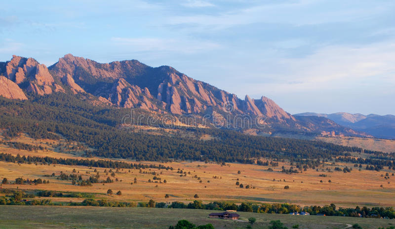 Sunrise on the Edge of the Rocky Mountains royalty free stock photography