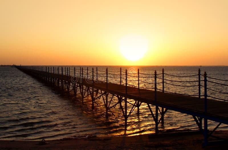 Sunrise in Egypt stock image