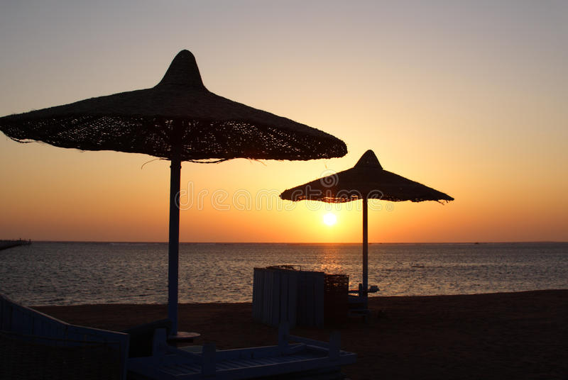 Sunrise in Egypt royalty free stock photography