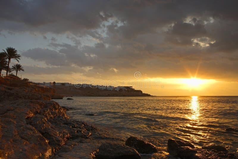 Sunrise in Egypt royalty free stock photos