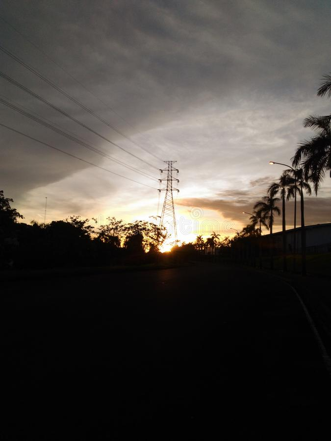 Sunrise on ejip. Matahari wonderfull royalty free stock images