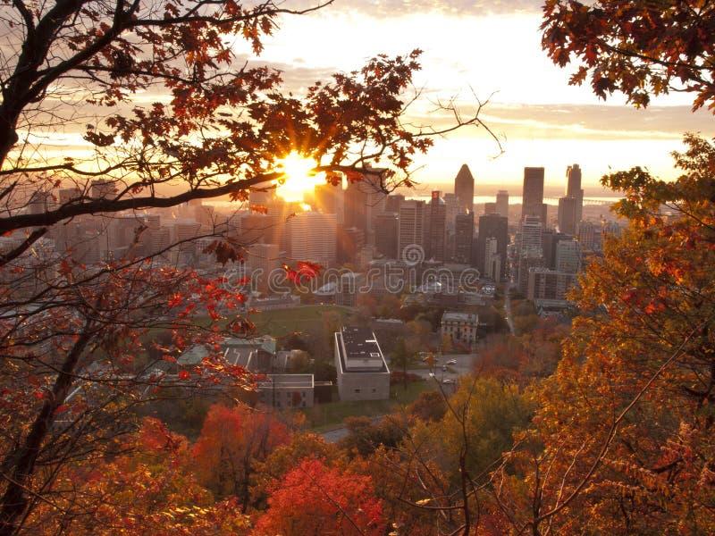 Sunrise at fall royalty free stock photos