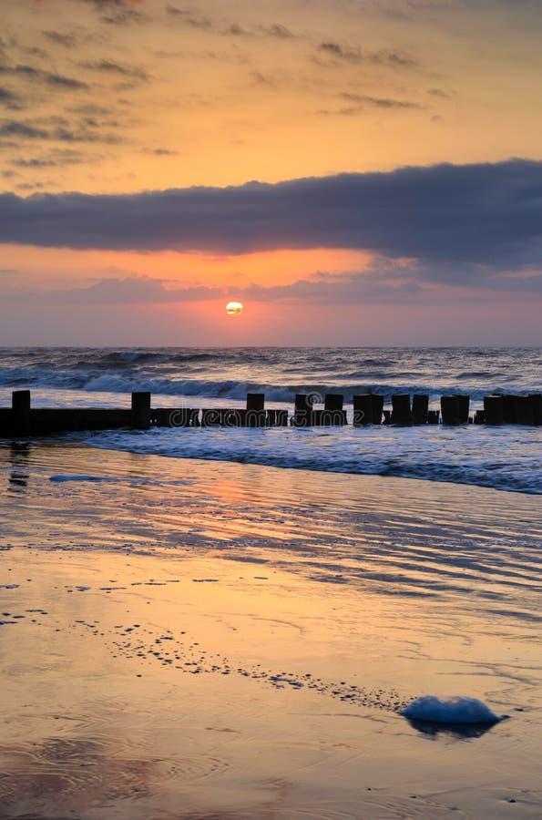 Sunrise Folly Beach Charleston South Carolina stock image