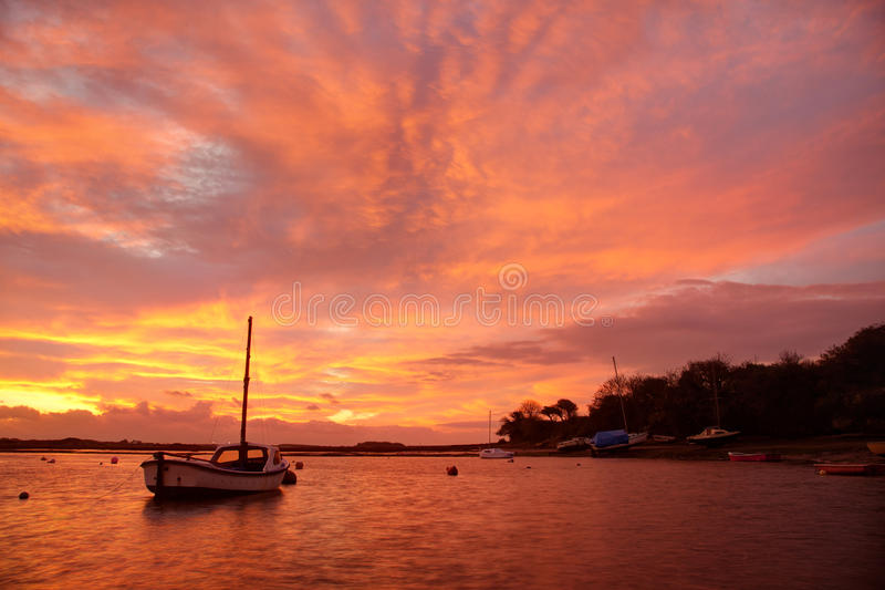 Download Sunrise at Four Mile Bridg stock photo. Image of yacht - 24941184