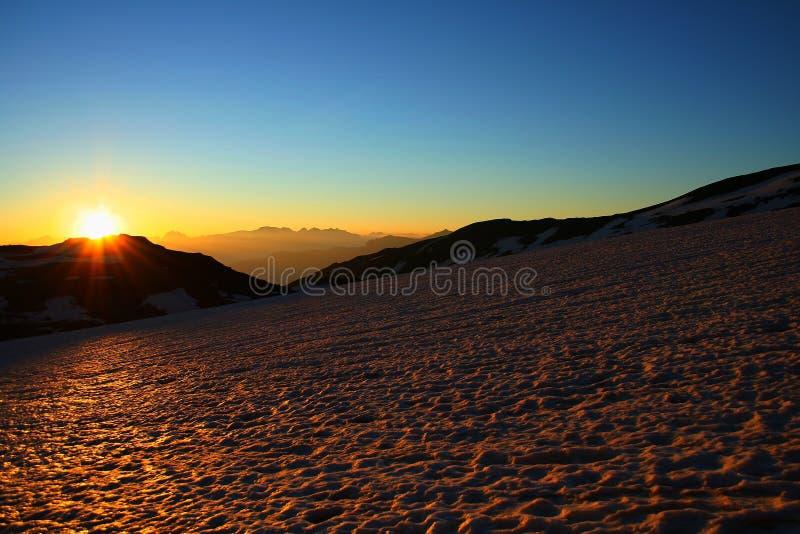 Download Sunrise and glacier stock photo. Image of magic, breathe - 1417628