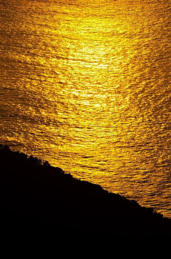 Sunrise glow of ocean