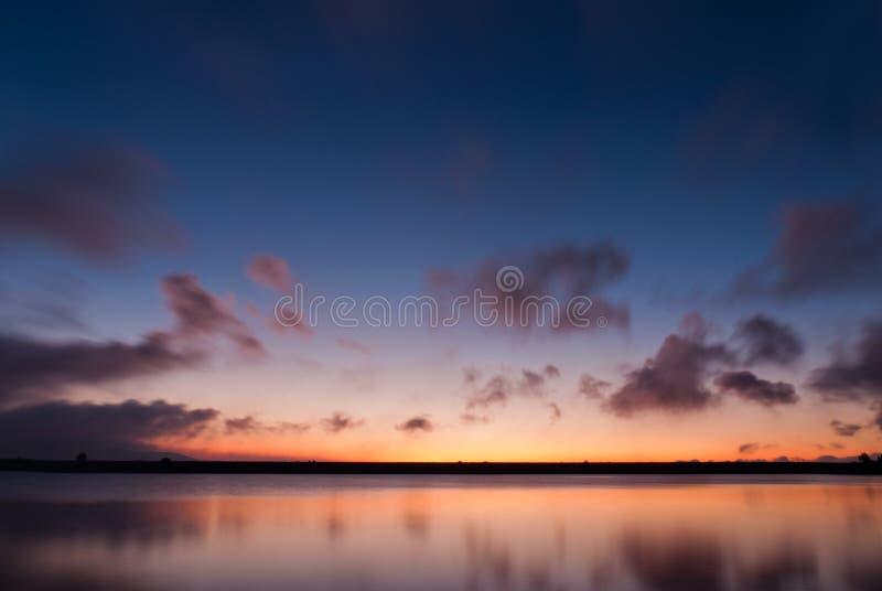 Sunrise at Golan Heights stock image