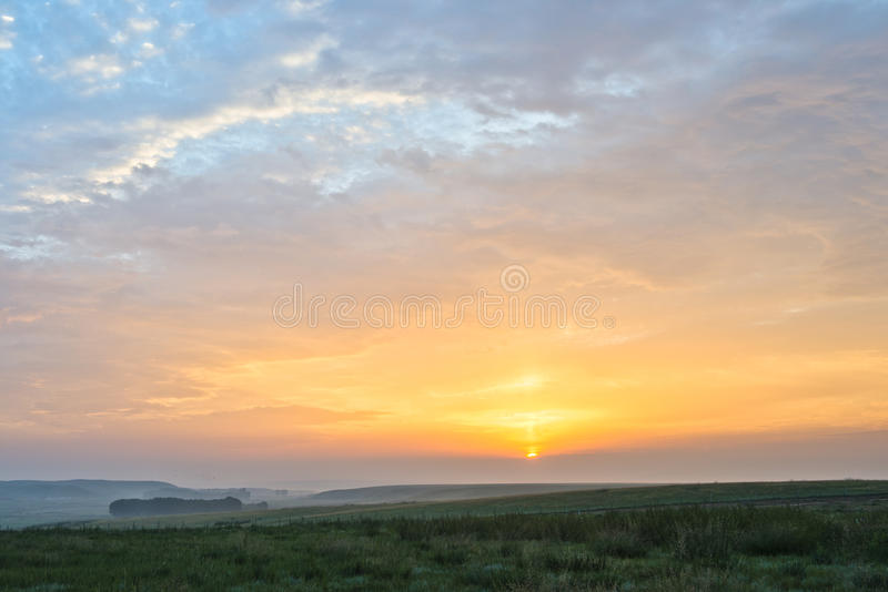 Download Sunrise And Grassland Stock Photography - Image: 26057412