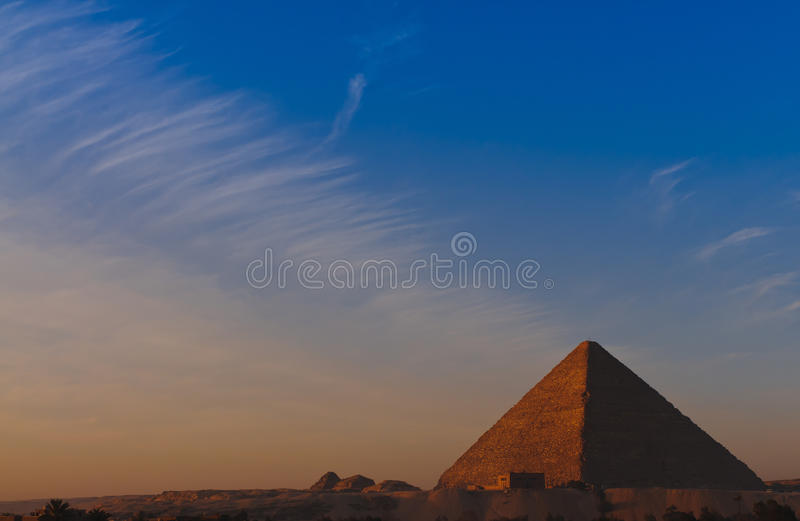 Sunrise At Great Pyramid Of Giza Stock Photography