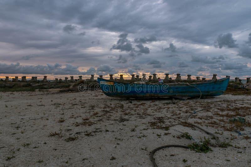 Sunrise in Gura Portitei royalty free stock photo
