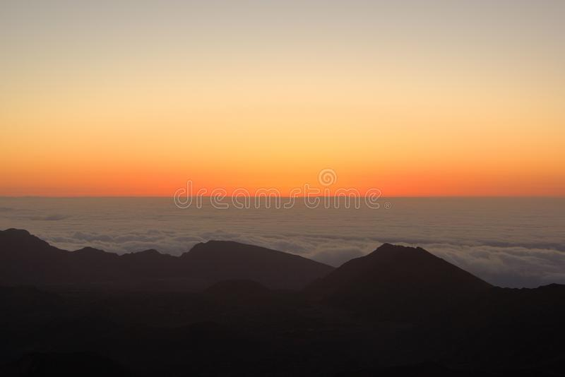 Download Sunrise from Haleakala stock image. Image of colorful - 32561799