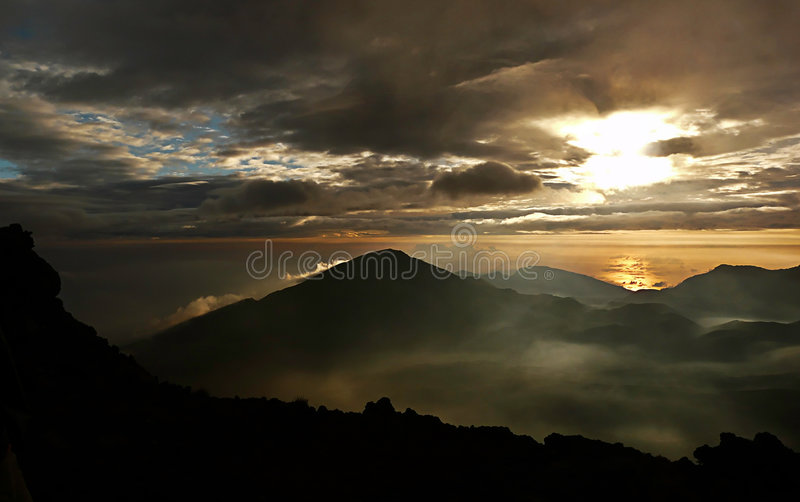 Sunrise Haleakala Volcano Stock Image