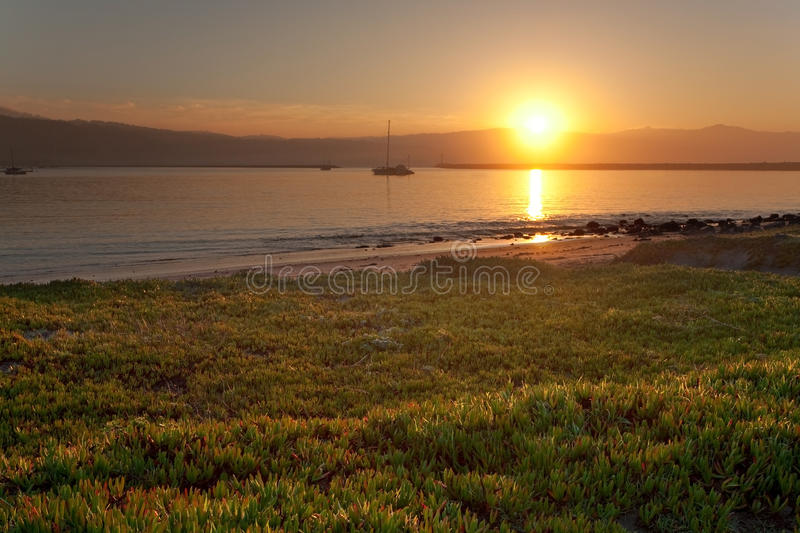 Download Sunrise at Half Moon Bay stock photo. Image of quiet - 23334874