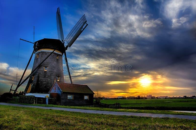 Sunrise House and the Giant of Netherlands royalty free stock image