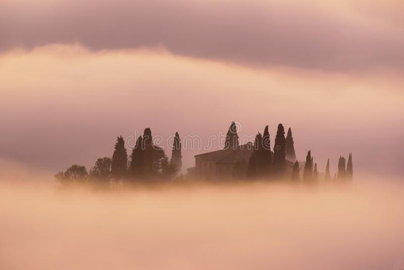 Sunrise in Italy stock photography