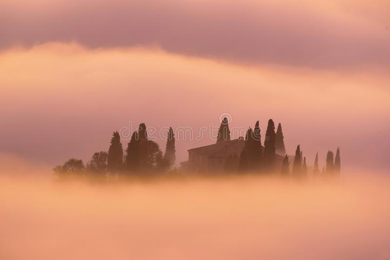 Sunrise in Italy stock images
