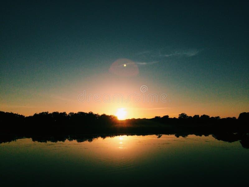 Sunrise on Kakadu billabong royalty free stock photography