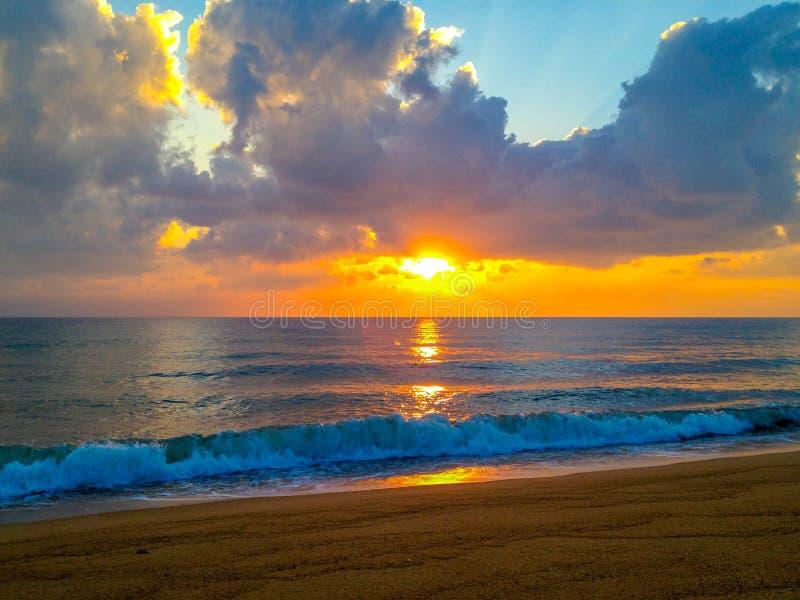 Sunrise. At Kelantan Dungun, Malaysia East Coast stock photo