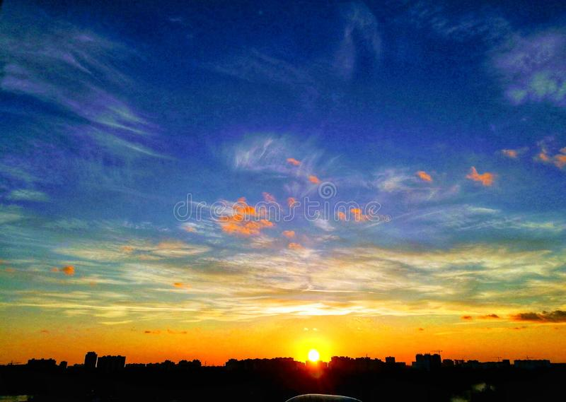 Sunrise a Krasnodar fotografia stock libera da diritti