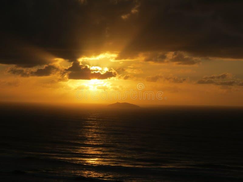 Ilha dos lobos - Wolf Island. Sunrise on Laguna, Santa Catarina, Brasil, ft Ilha dos lobos stock images