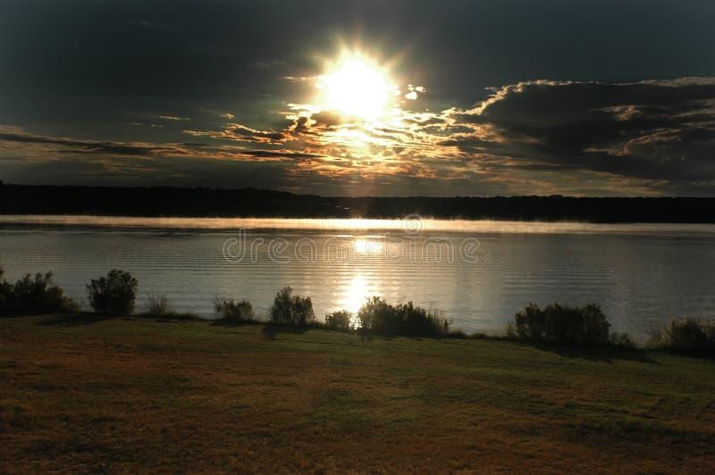 Sunrise On Lake Stock Photos