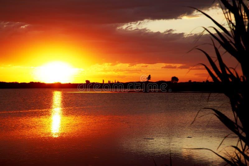 Download Sunrise on lake stock photo. Image of lighting, dawn, blue - 9841718