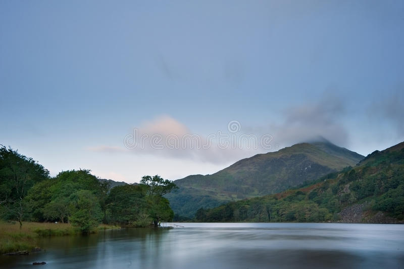 Download Sunrise Landscape Over Llyn Gwynant In Snowdonia Stock Photo - Image: 27237662