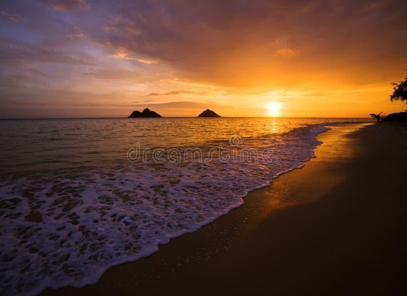 Download Sunrise At Lanikai Beach In Hawaii Stock Photo - Image: 7613326