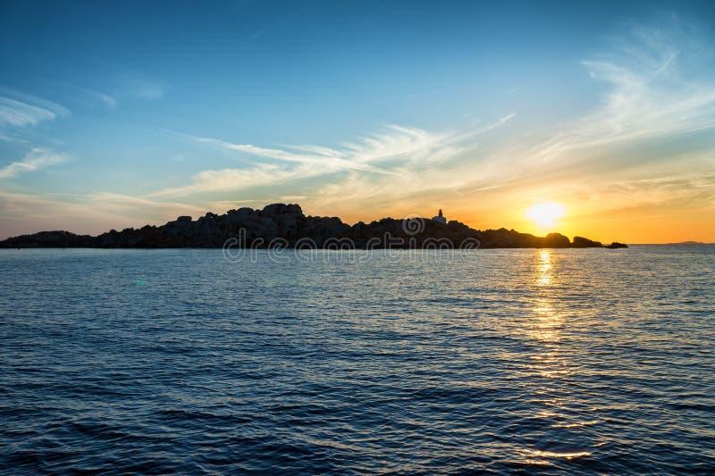 Sunrise in Lavezzi island, Corsica, France stock image