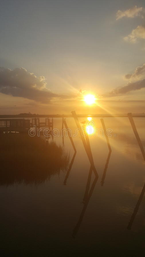 Sunrise Long Beach Island NJ royalty free stock photo