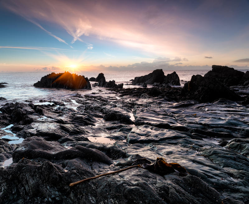 Download Sunrise At Looe Beach Royalty Free Stock Photography - Image: 37767037