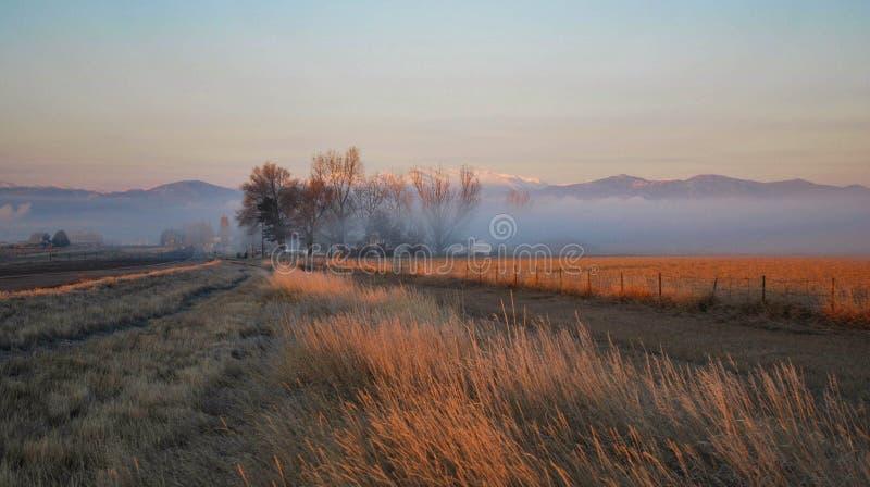 Sunrise in Loveland, Colorado stock photography