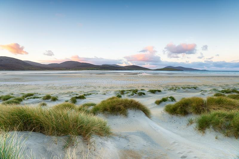 Luskentyre Beach on the Isle of Harris royalty free stock photography