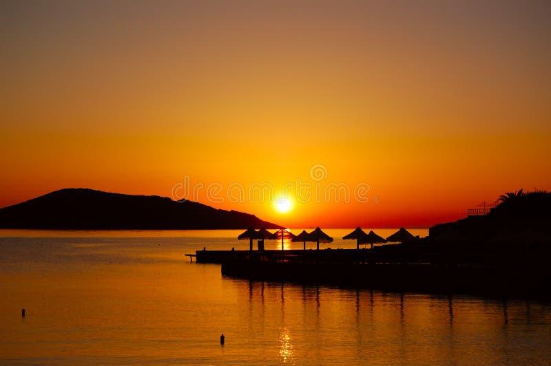 Sunrise At Luxury Resort Royalty Free Stock Image