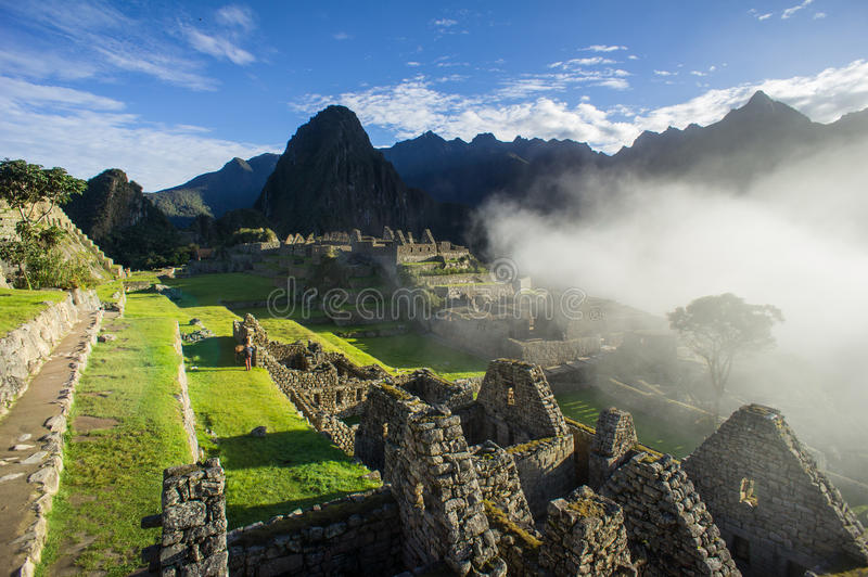 Sunrise Machu Picchu royalty free stock photography