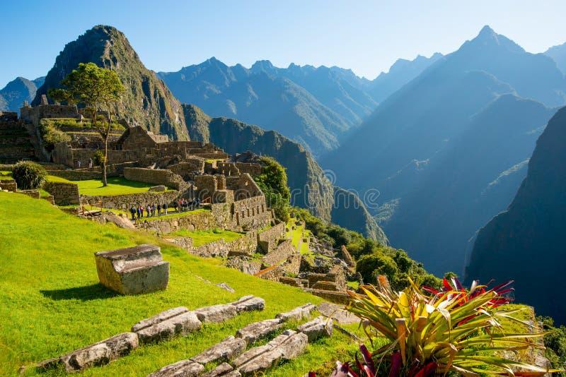 Sunrise on Machu Picchu, the lost city of inca. Peru stock photos